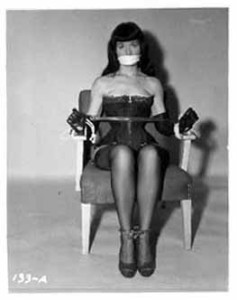 Bettie Page. Author Irving Klaw