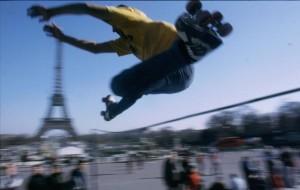 Roller skating high jump