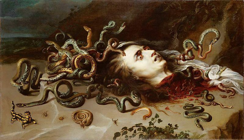 """Head of Medusa"" by Rubens"