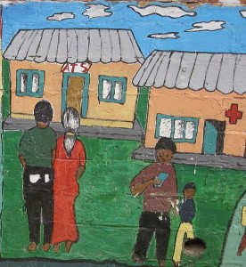 """""""AIDS awareness - HIV testing and treatment"""" mural from Mozambique. Photo by Jacopo Werther"""